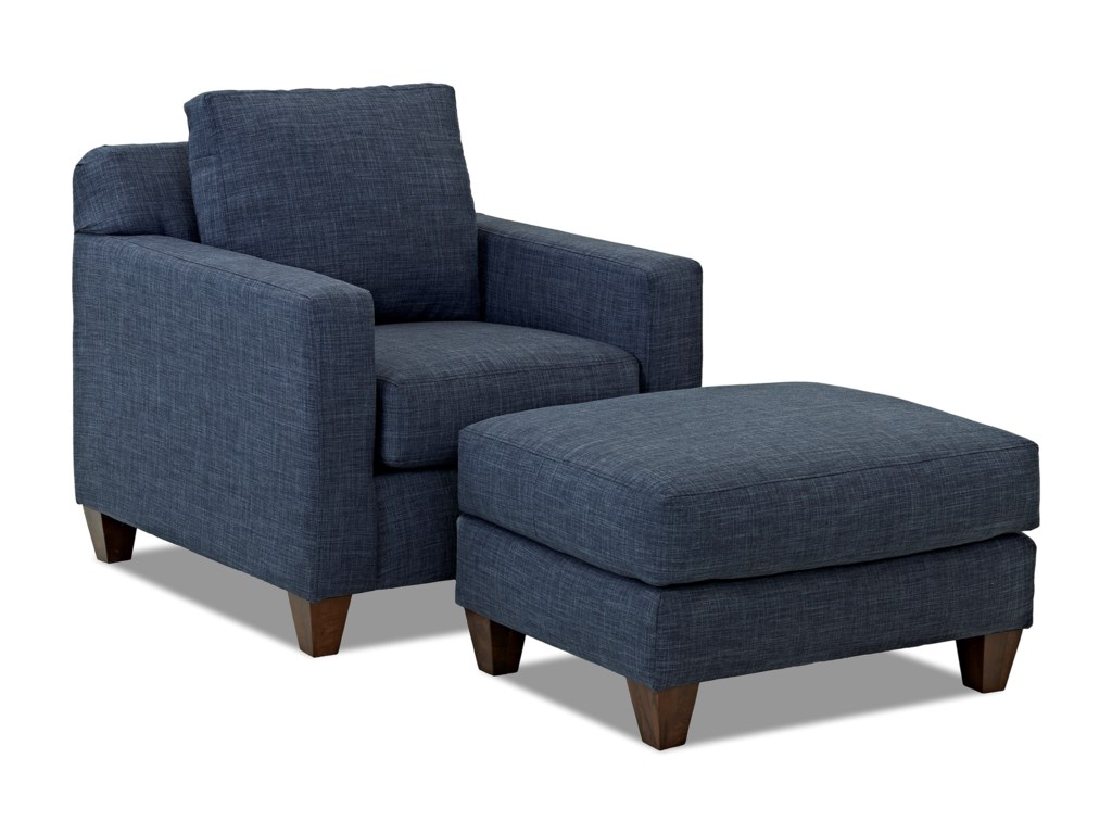 Klaussner BoscoChair and Ottoman