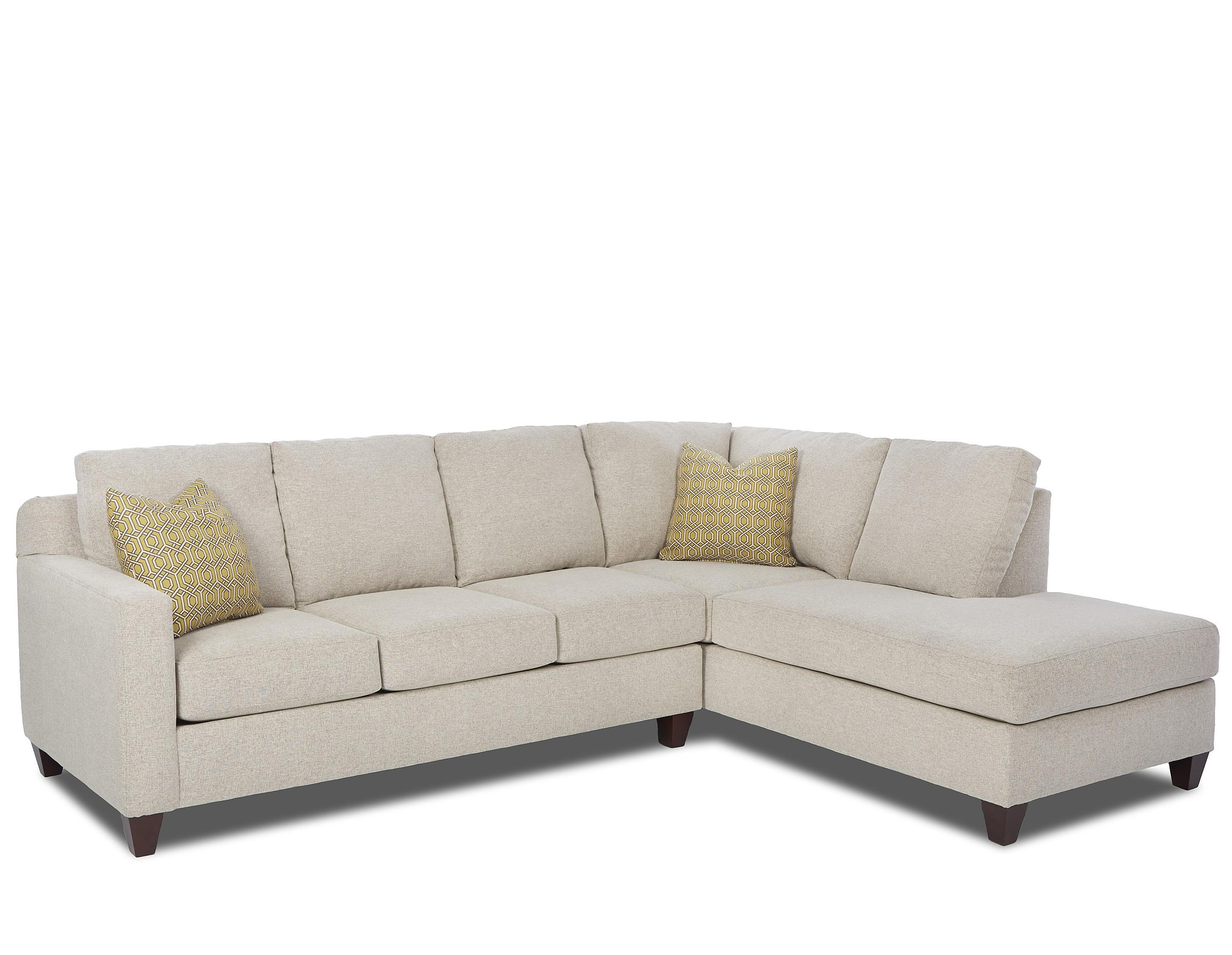 Klaussner Bosco Contemporary 2 Piece Sectional With Right