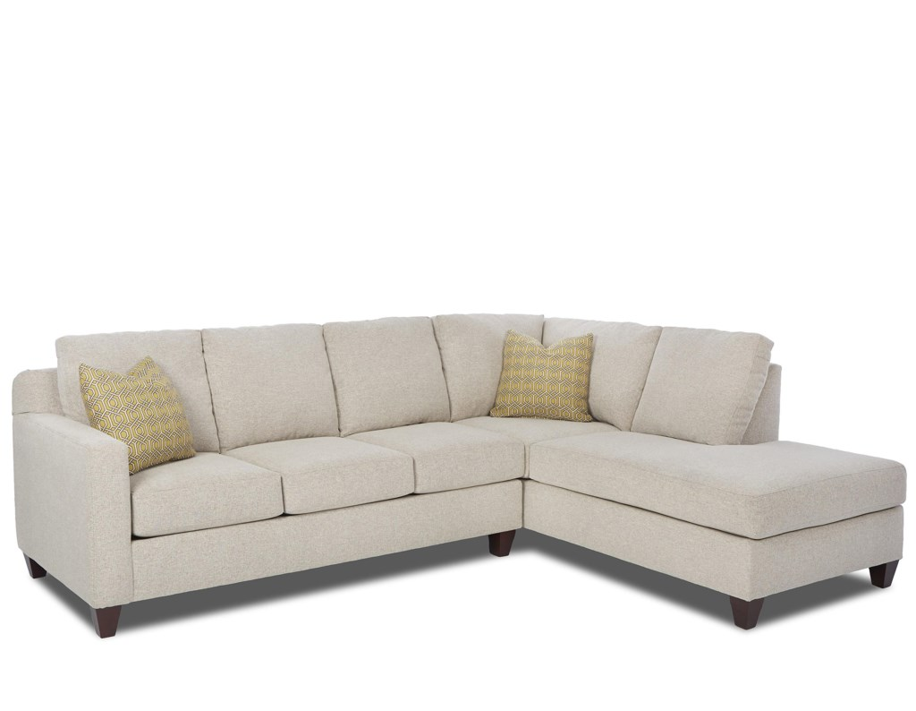 Elliston Place Bosco Contemporary 2 Piece Sectional With Right Arm