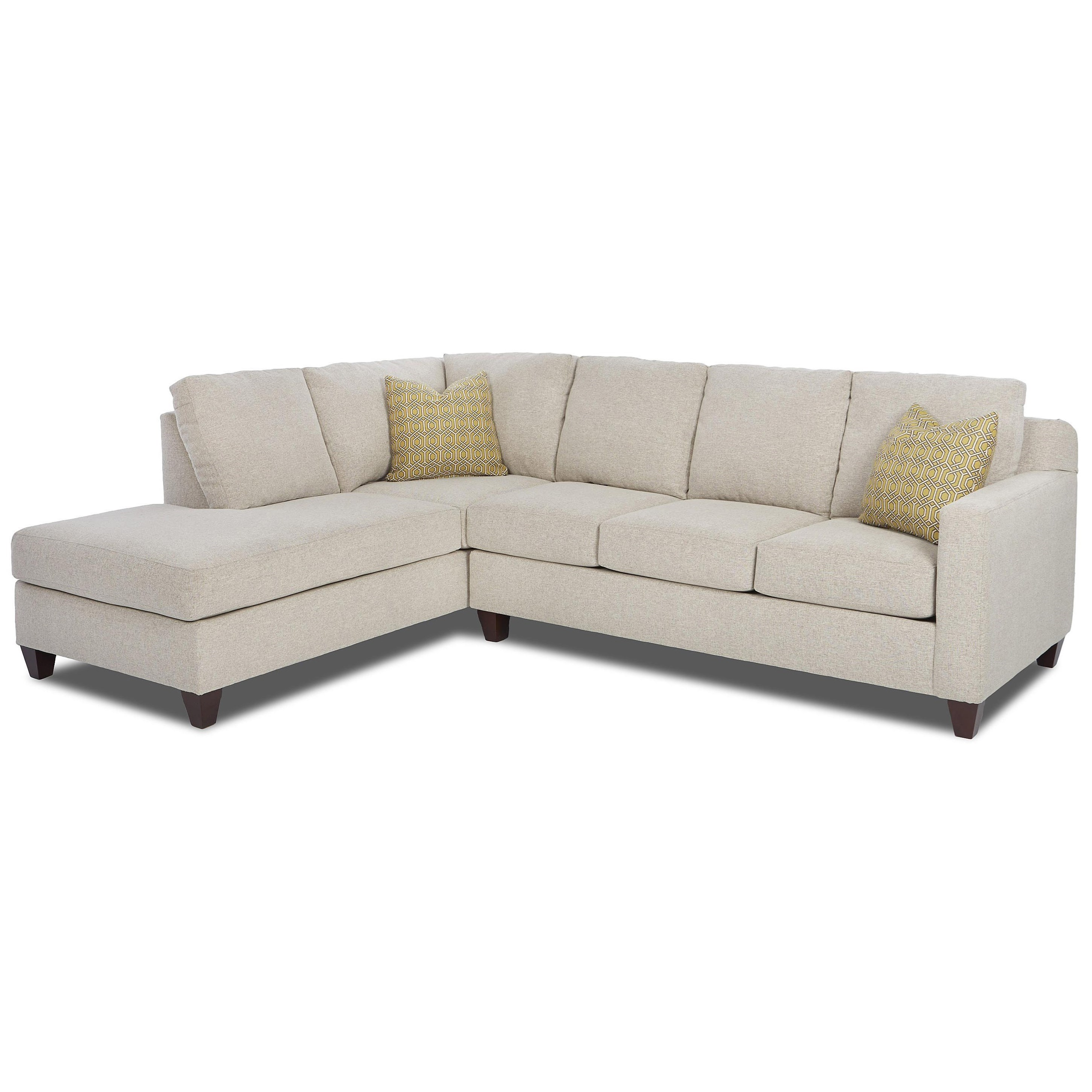 Contemporary 2-Piece Sectional with Left Arm Facing Sofa Chaise