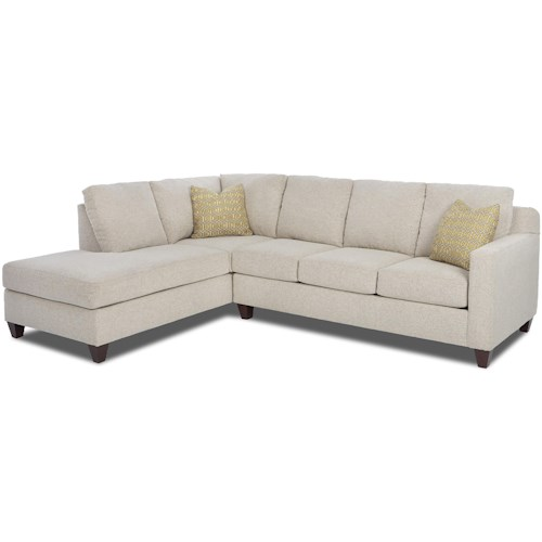 Klaussner Bosco Contemporary 2-Piece Sectional with Left Arm Facing Sofa Chaise