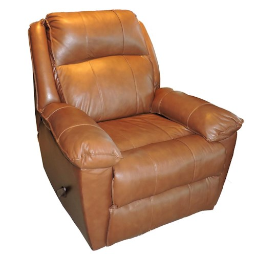 Belfort Basics Brandt Casual Reclining Rocking Chair with Padded Chaise Seat