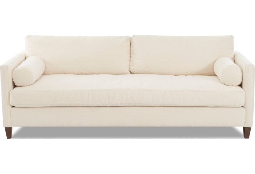 Brinley Sofa With Down Blend Cushions By Klaussner At Dunk Bright Furniture