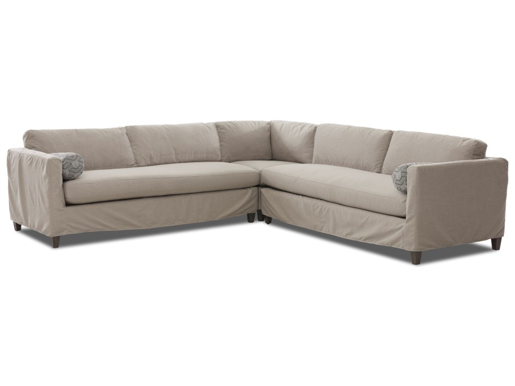Klaussner Brinley3-Piece Slipcover Sectional