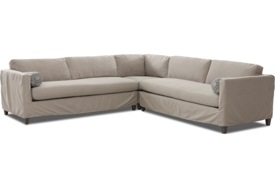 Brinley 3 Piece Slipcover Sectional