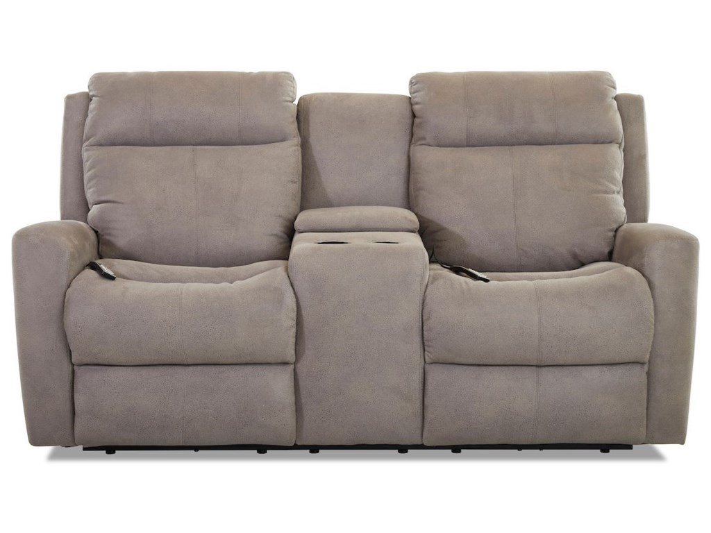 Klaussner BrooksReclining Loveseat w/console