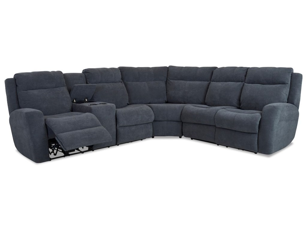 Klaussner Brooks4-Seat PowerRecline Sectional w/ LAF Console
