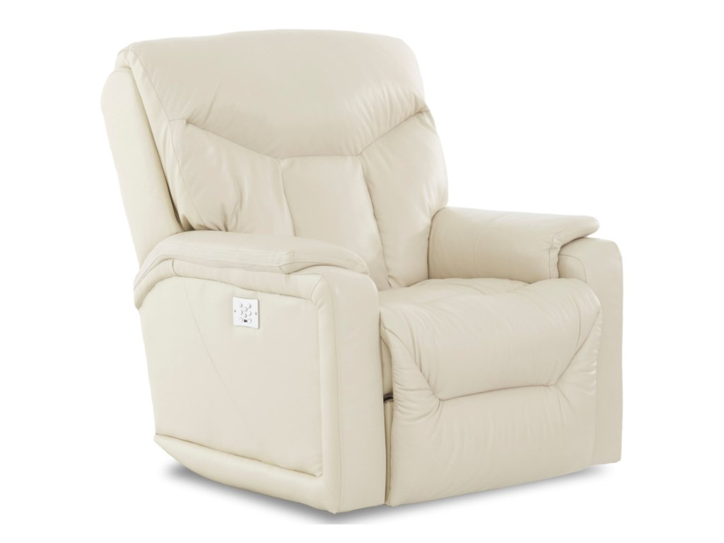 Klaussner BugattiPower Reclining Chair w/ Pwr Head & Lumbar