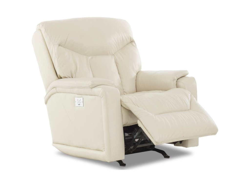Klaussner BugattiPower Rocking Reclining Chair w/ Pwr Head