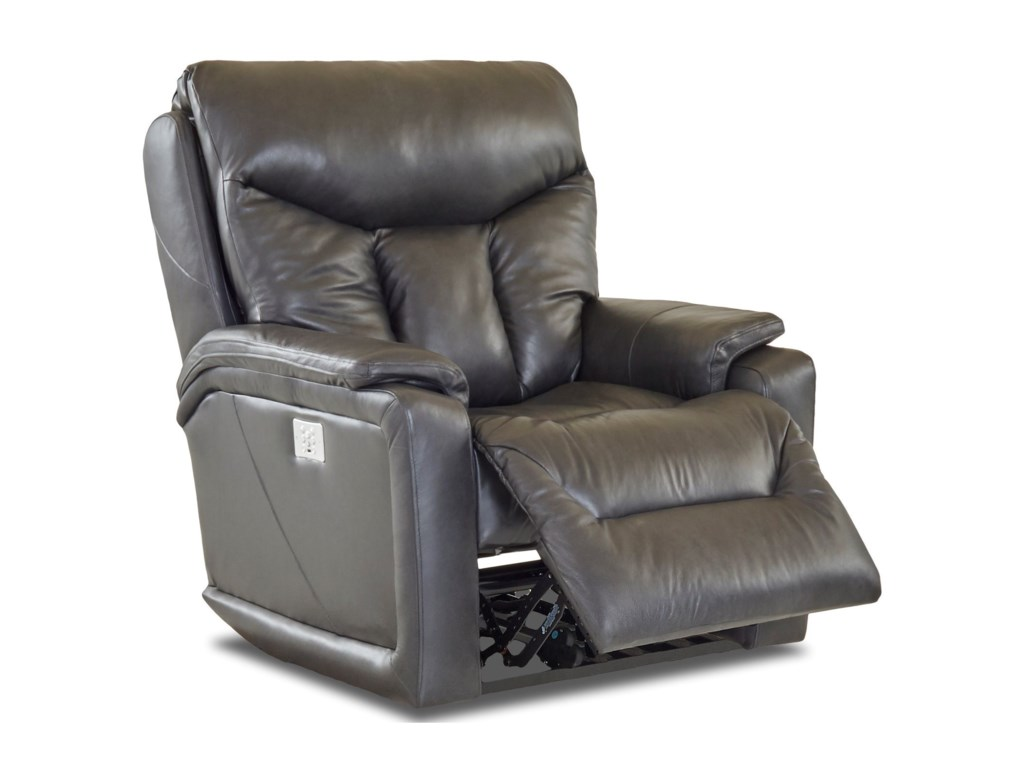 Klaussner BugattiPower Reclining Chair w/ Pwr Headrest