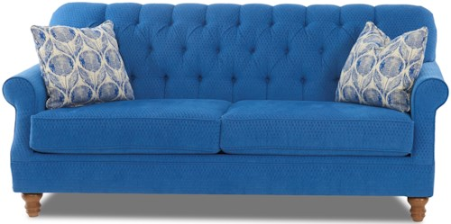 Klaussner Burbank Traditional Tufted Apartment-Size Sofa
