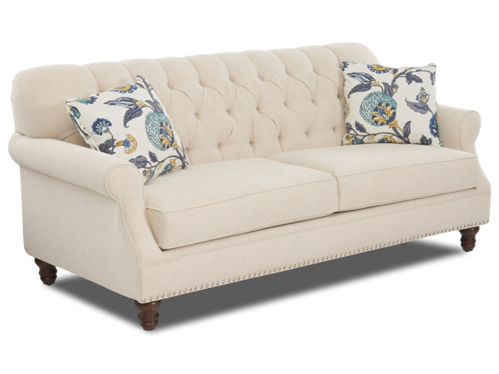 Klaussner Burbank K96810 S Traditional Tufted Apartment-Size Sofa ...