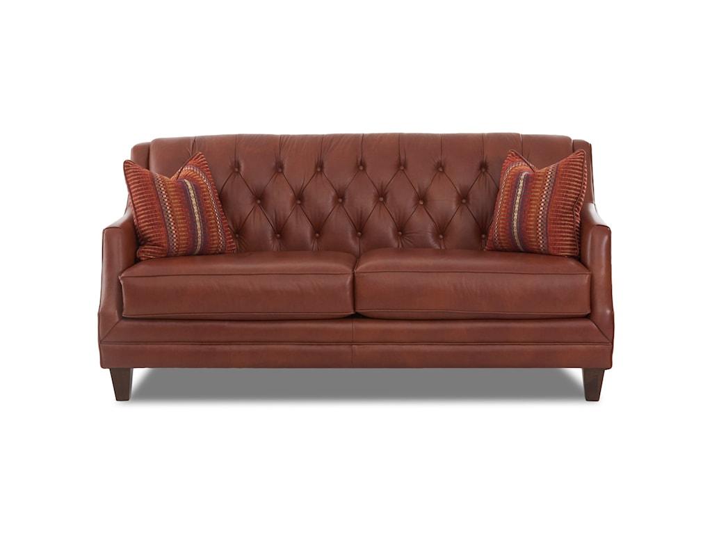 Klaussner BuxtonSofa w/ Arm Pillows