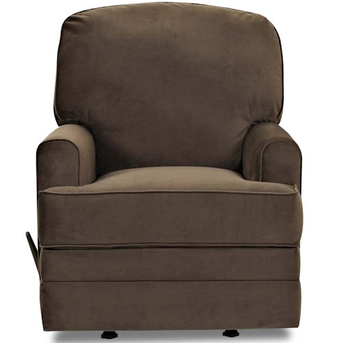 Klaussner Callahan Casual Swivel Rocking Recliner with Track Arms