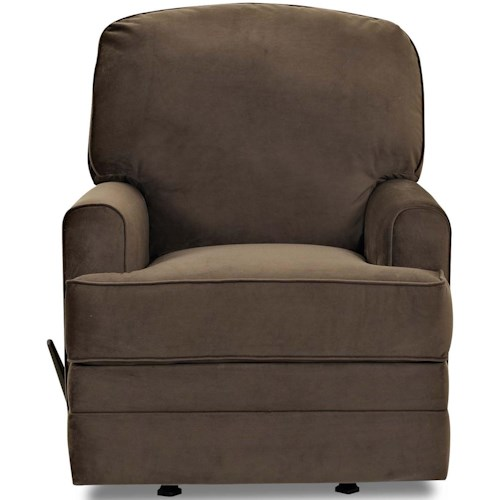 Klaussner Callahan Casual Rocking Recliner with Track Arms