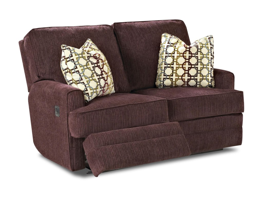 Klaussner CallahanCasual PowerReclining Love Seat with Pillows