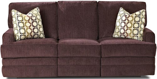 Klaussner Callahan Casual Reclining Sofa with Track Arms