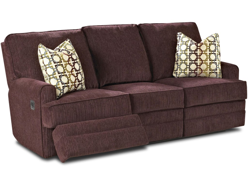 Klaussner CallahanCasual Reclining Sofa with Pillows