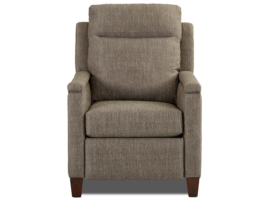 Klaussner CapitolHigh Leg Reclining Chair w/ Nailheads