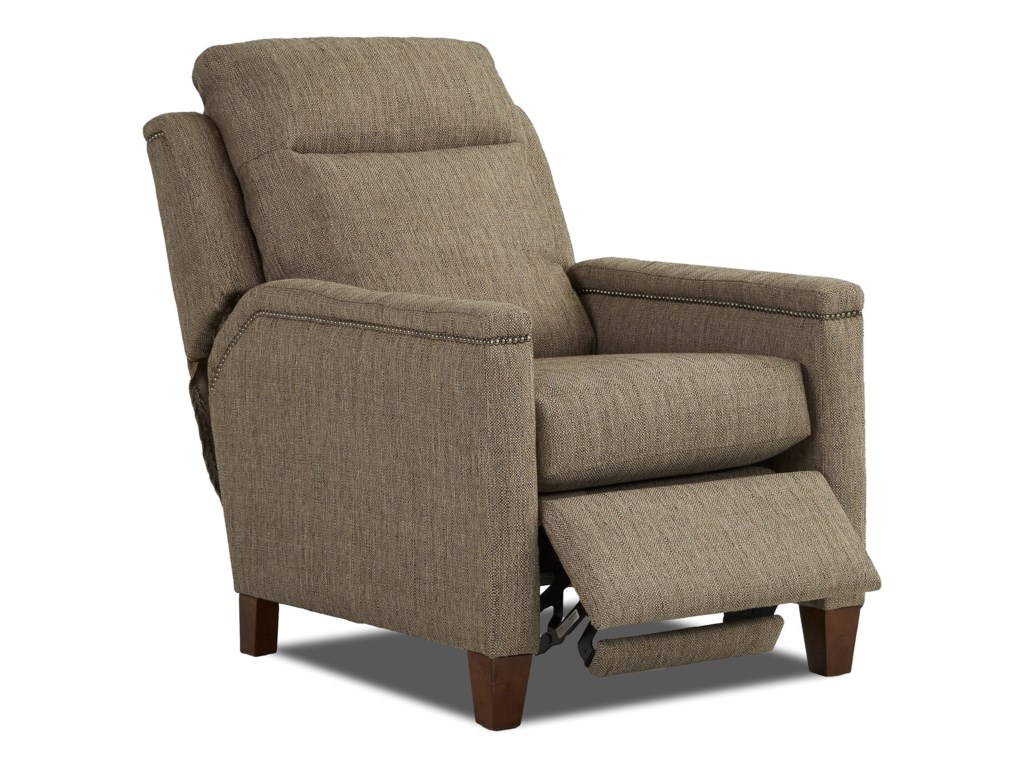 Klaussner CapitolPower High Leg Recliner w/ Nails w/ Pwr Head
