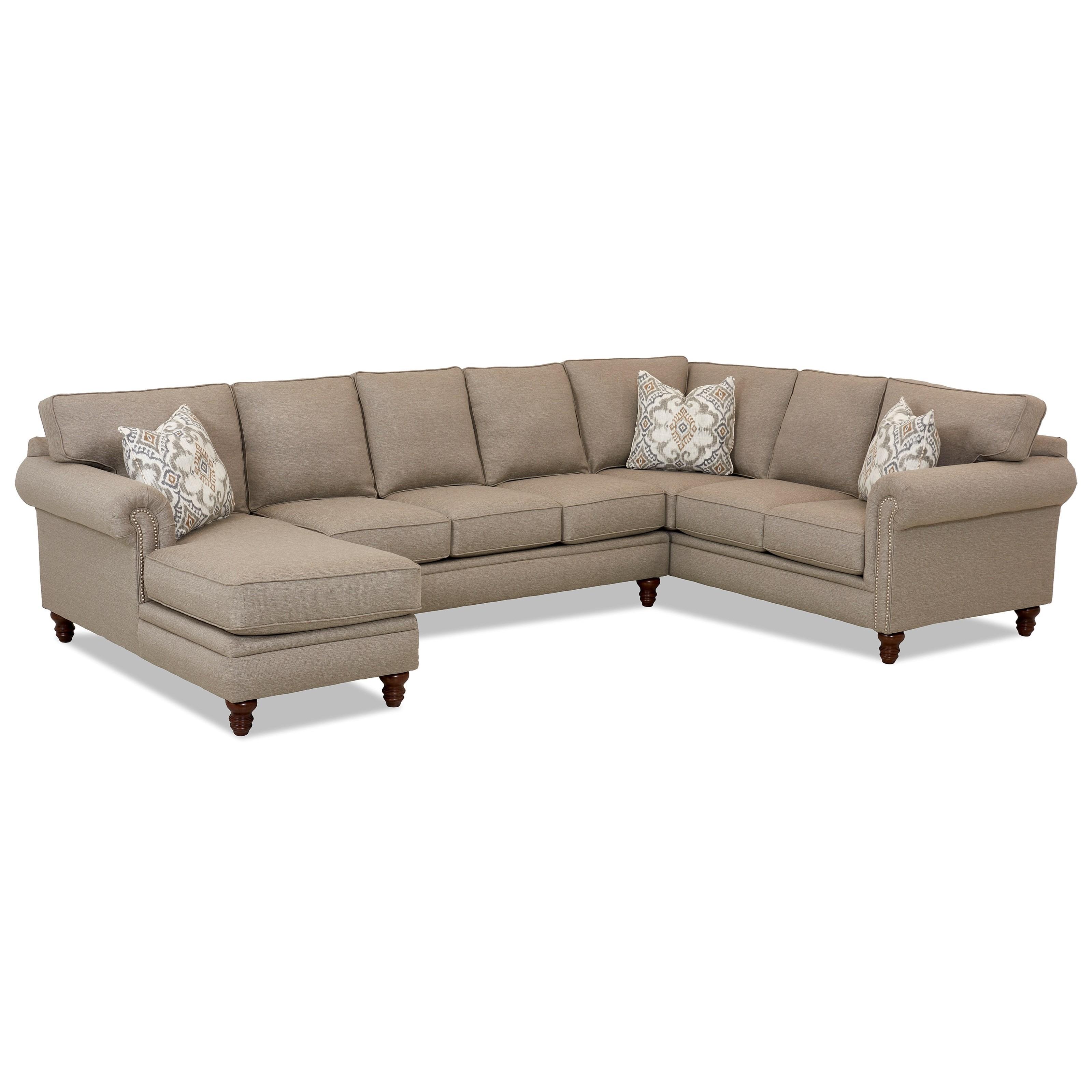 Merveilleux Klaussner Carter3 Pc Sectional Sofa ...