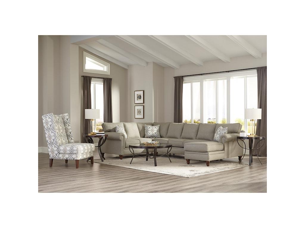 Klaussner Carter3 Pc Sectional Sofa