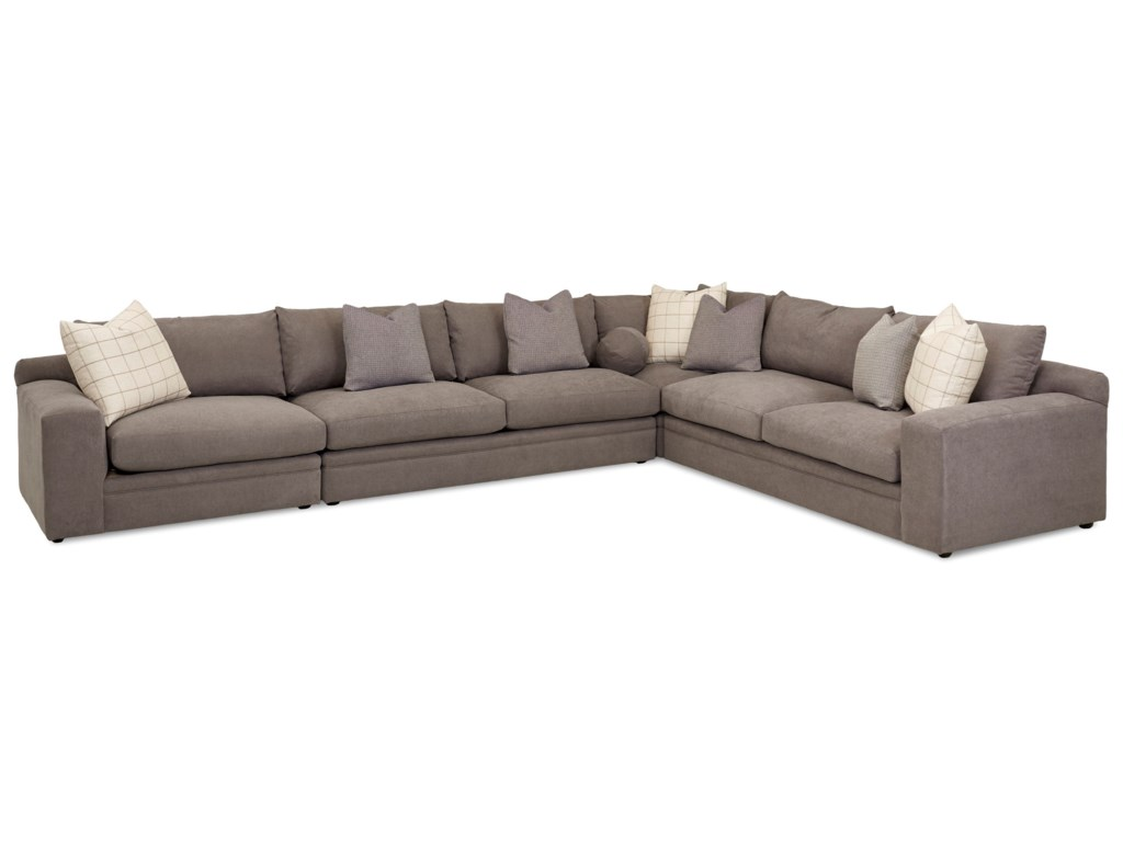 Klaussner Casa Mesa4 Pc Sectional Sofa w/ LAF Chair