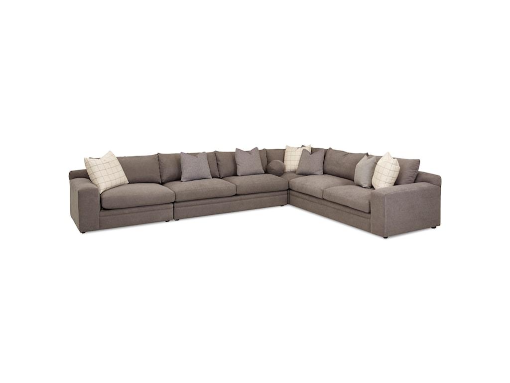 Klaussner Casa Mesa4 Pc Sectional Sofa w/ LAF Chair