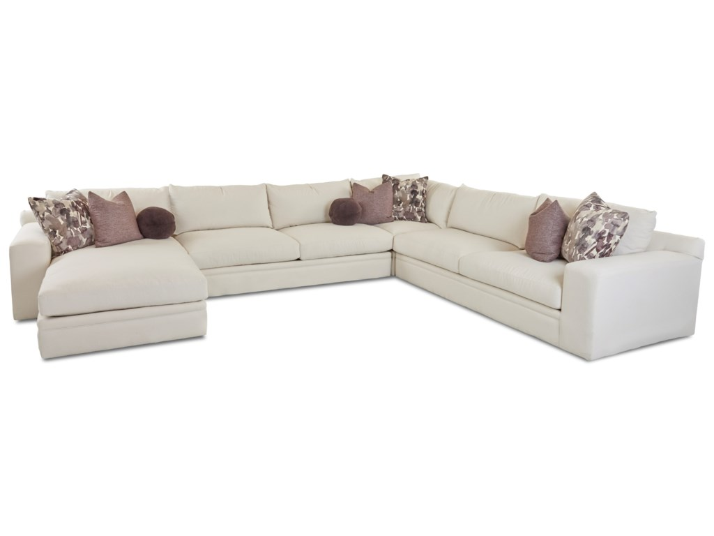 Elliston Place Casa Mesa4 Pc Sectional Sofa w/ LAF Chaise