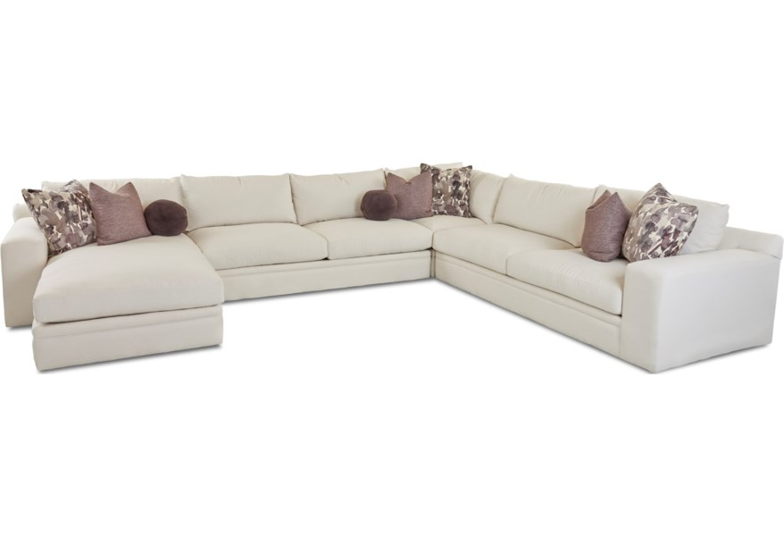 Casa Mesa 4 Pc Sectional Sofa w/ LAF Chaise