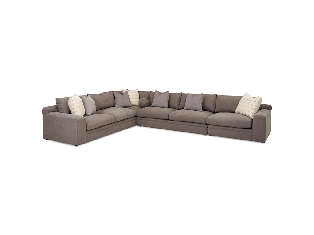 Klaussner Casa Mesa4 Pc Sectional Sofa w/ RAF Chair