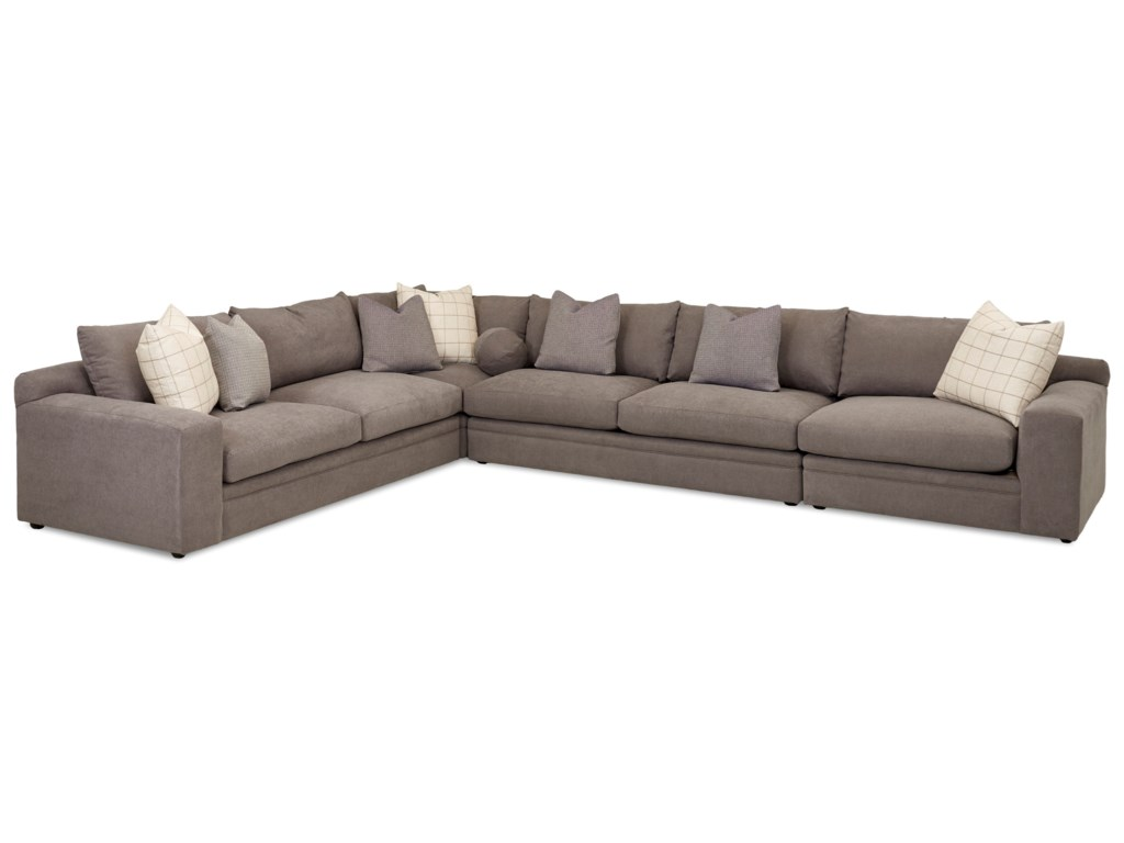 Klaussner Casa Mesa4 Pc Sectional Sofa w/ RAF Chair