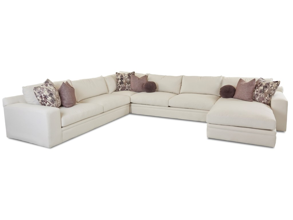 Klaussner Casa Mesa4 Pc Sectional Sofa w/ RAF Chaise