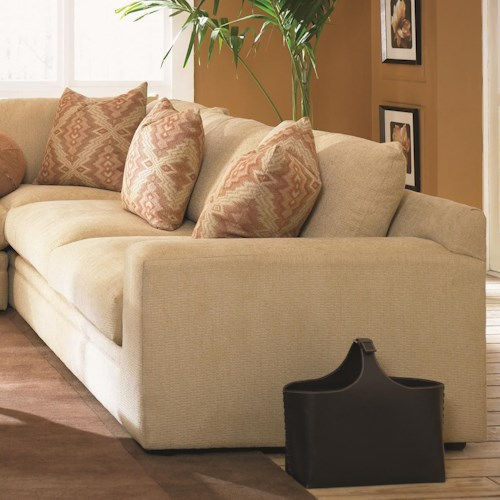 Klaussner Casa Mesa Casual Right Arm Facing Love Seat with Loose Back Pillows and Track Arm