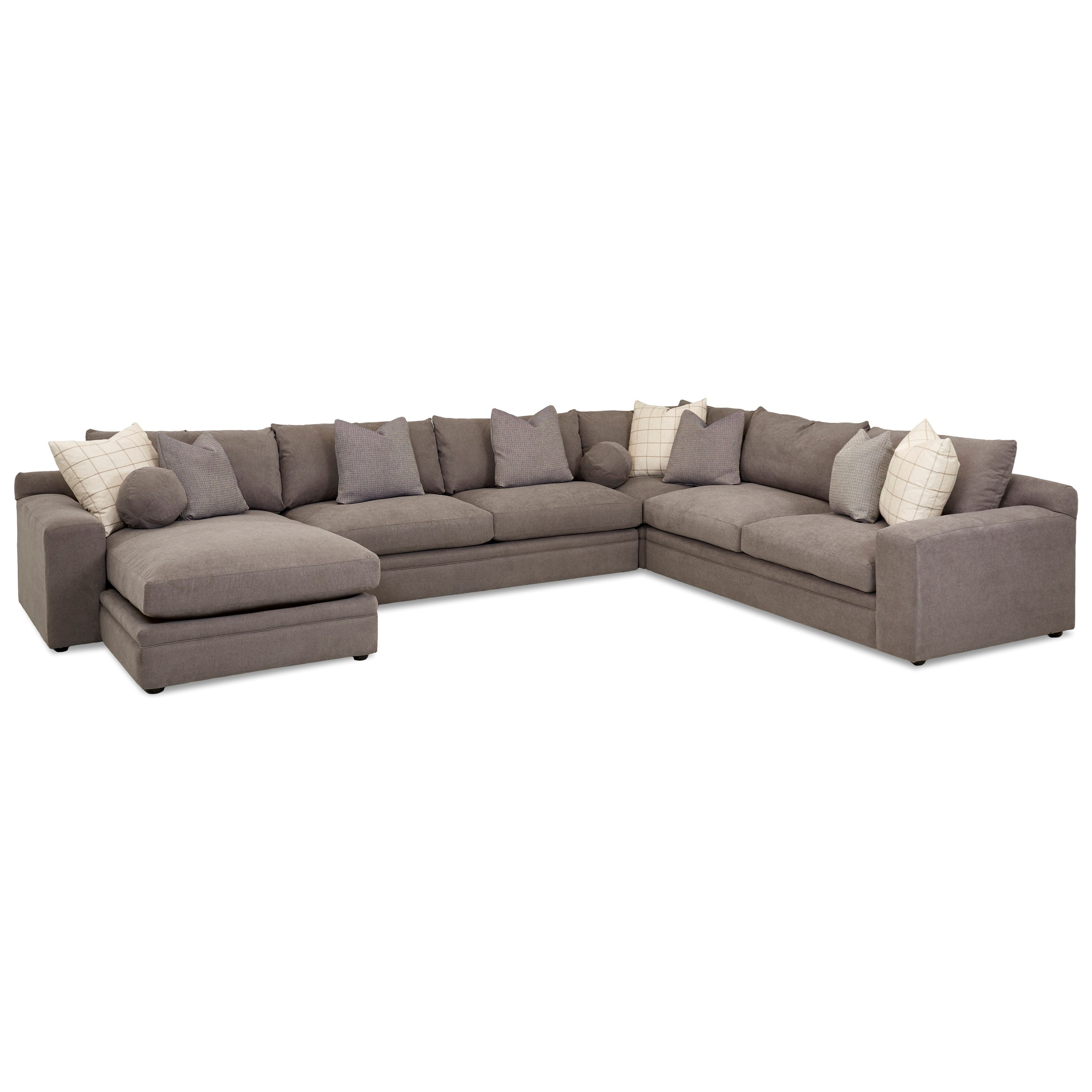 Casual Four Piece Sectional Sofa with LAF Chaise