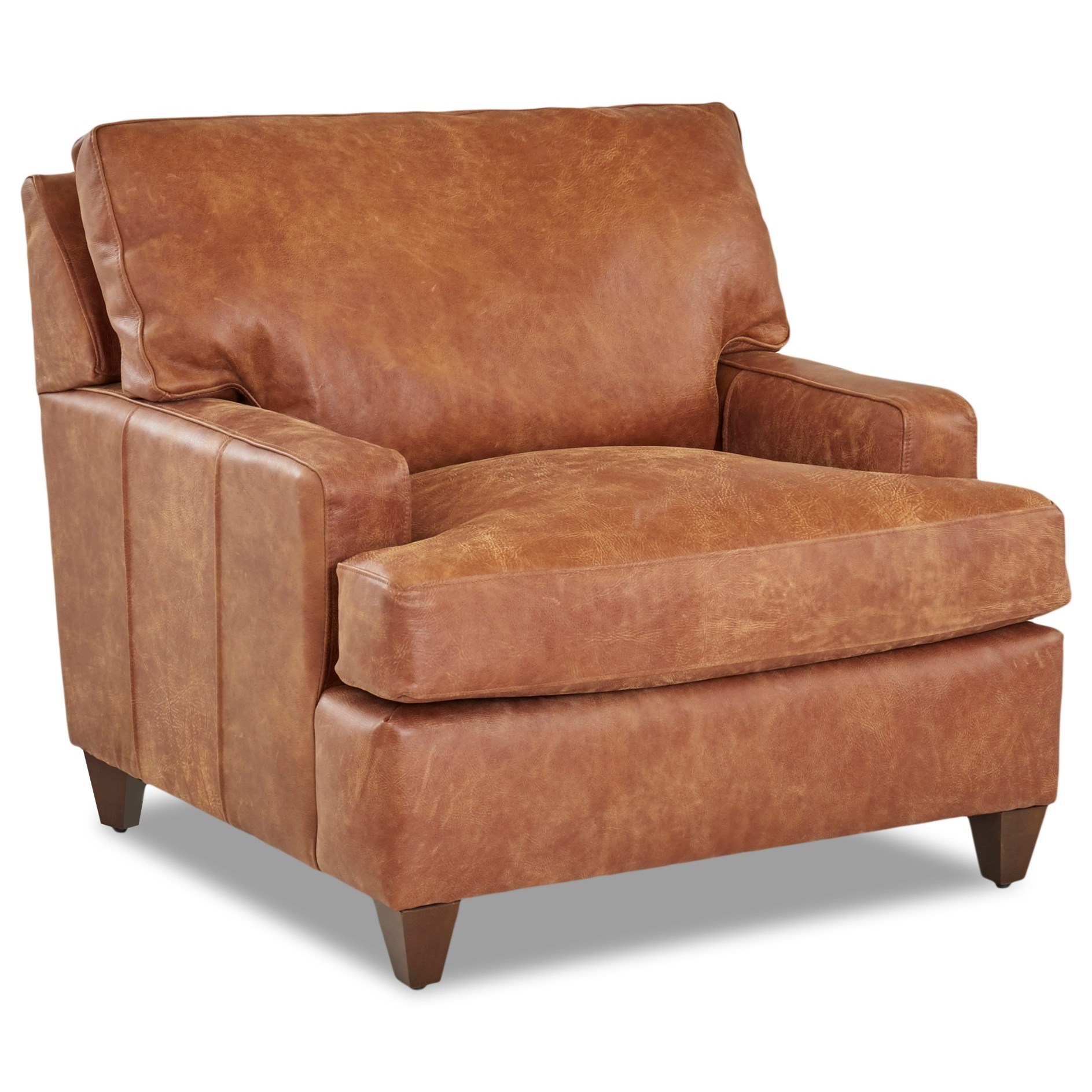 Image of: Klaussner Cassio Contemporary Leather Chair Wayside Furniture Upholstered Chairs