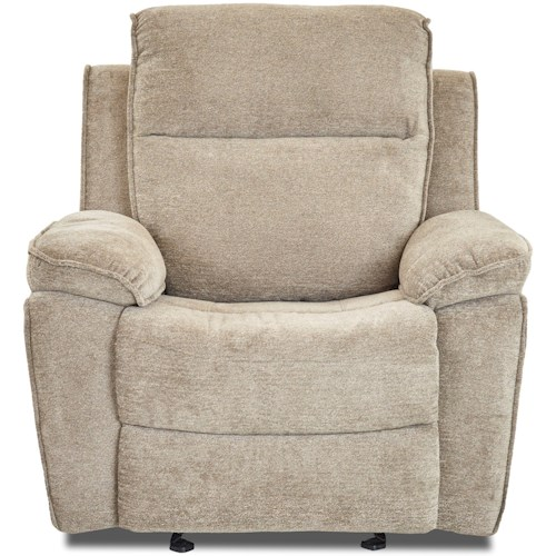 Klaussner Castaway Casual Power Reclining Chair with Bucket Seat and Pillow Arms