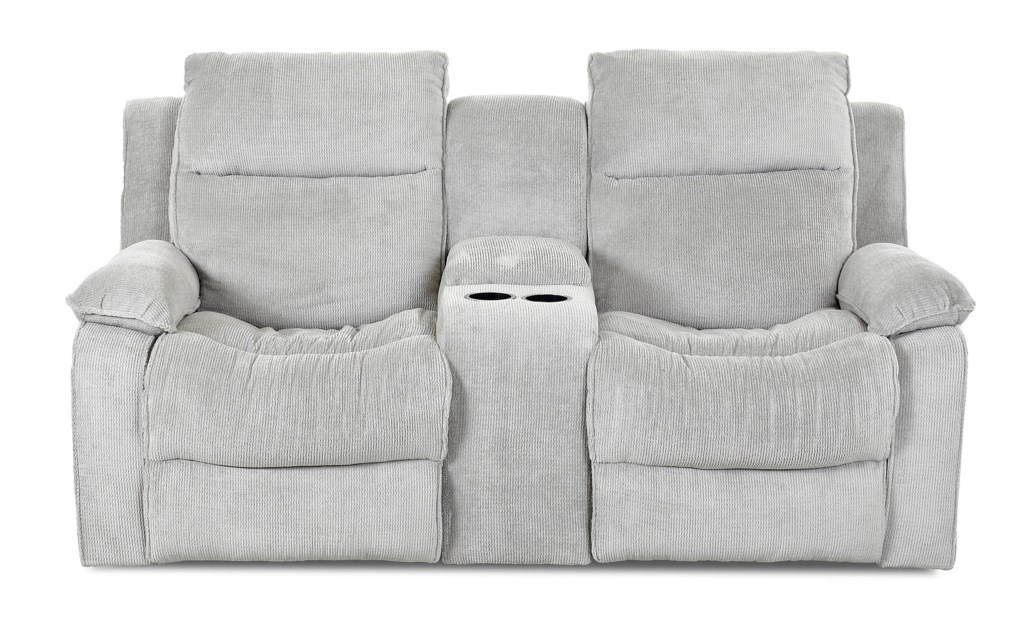 Klaussner Castaway Casual Reclining Loveseat With Console Value