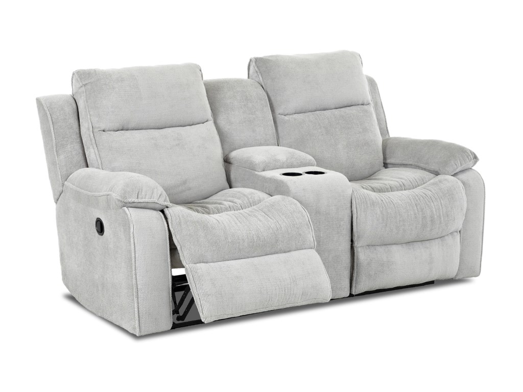 Klaussner CastawayCasual Reclining Loveseat with Console