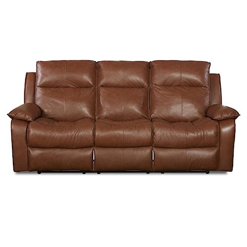 Klaussner Castaway Casual Power Reclining Sofa with Bucket Seats