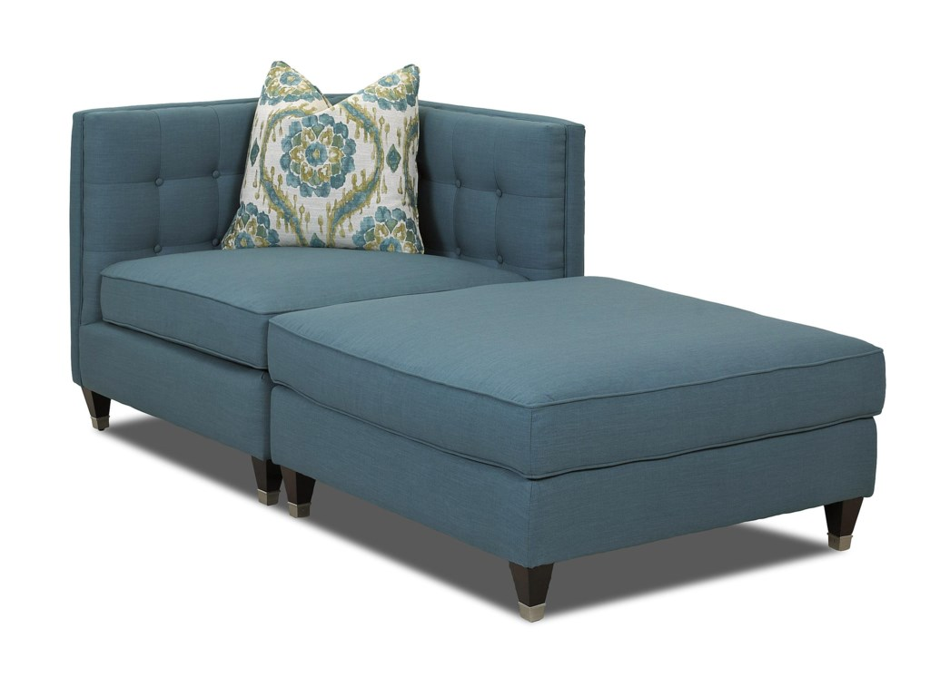 Celeste Two Piece Sectional Sofa With Tufting And Tuxedo Arms By Klaussner