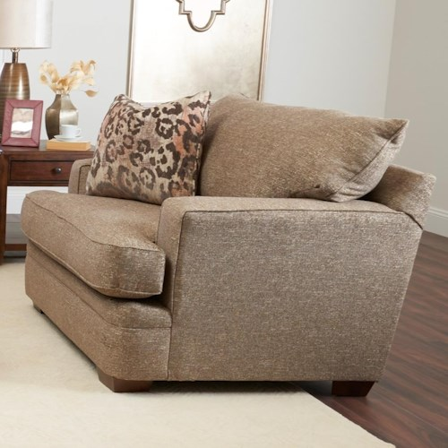 Klaussner Chadwick Casual Chair and a Half with Square Track Arms