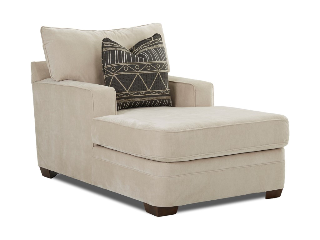 Klaussner Chadwick K28500 CHASE Casual Chaise Lounge with Square ...