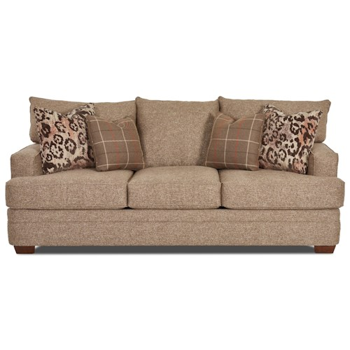 Klaussner Chadwick Casual Sofa with Square Track Arms