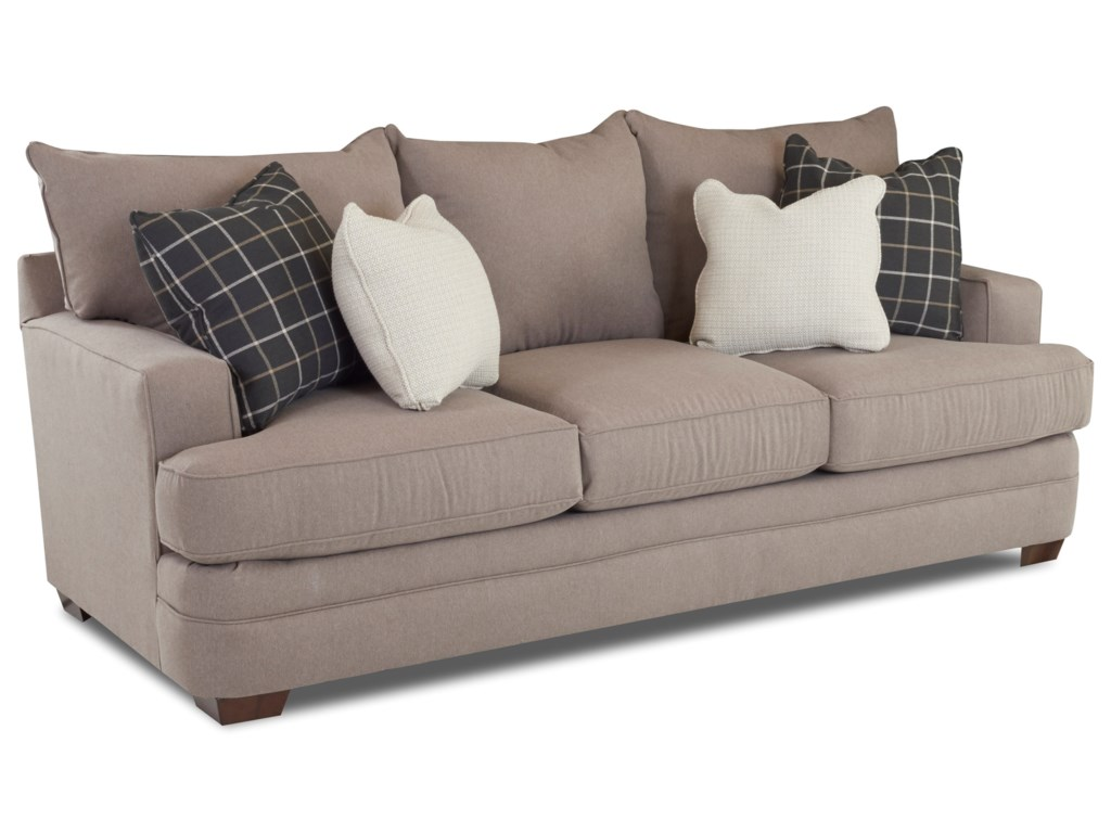 Chadwick Casual Sofa With Square Track Arms By Klaussner At Value City Furniture