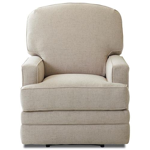 Klaussner Chapman Casual Swivel Rocking Reclining Chair