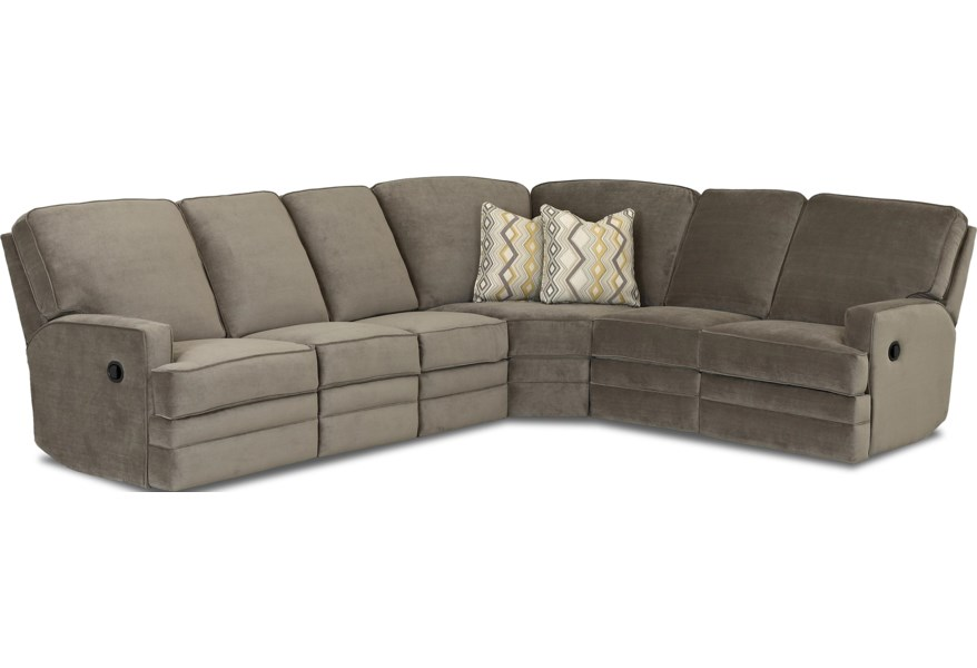 Casual Reclining Sectional Sofa