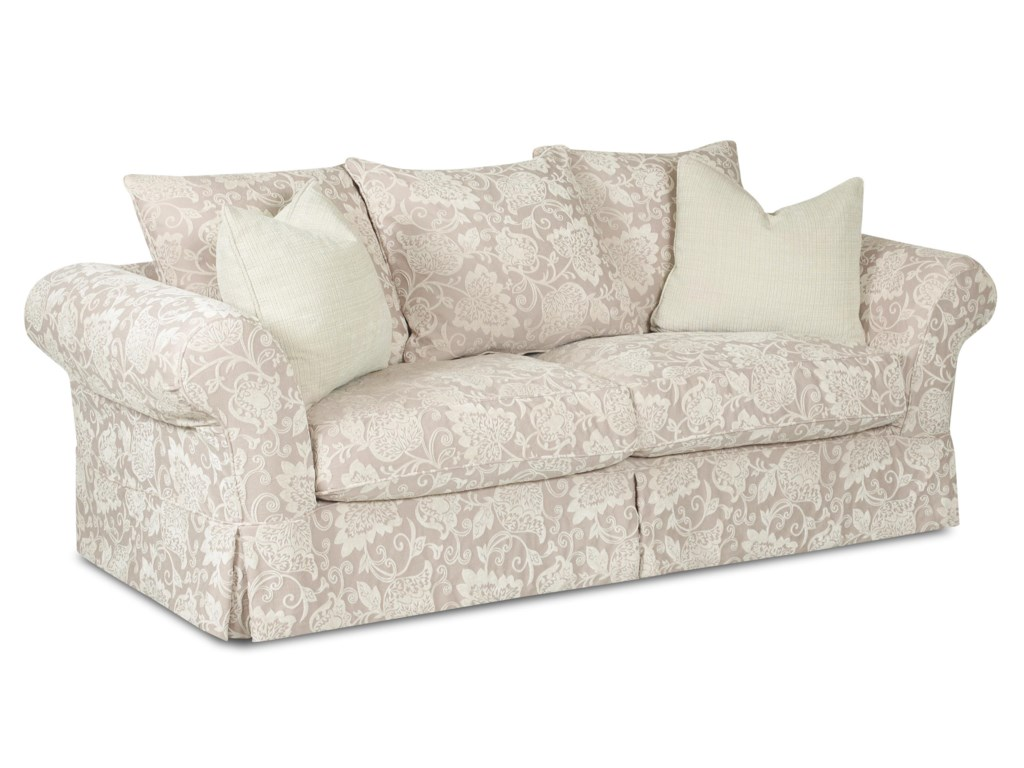 Klaussner CharlestonSofa with Scatterback Pillows