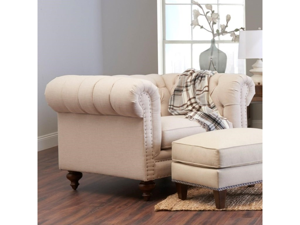 Klaussner CharlotteChair and 1/2