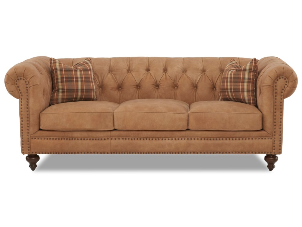 Klaussner Charlotte Ld93410ap S Traditional Chesterfield Sofa With